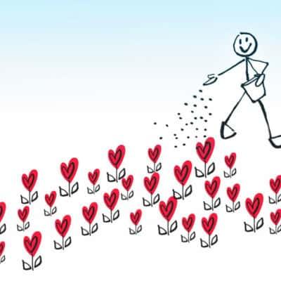 Un cœur qui fleurit …